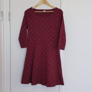 Old navy cotton sleeved dress red size medium